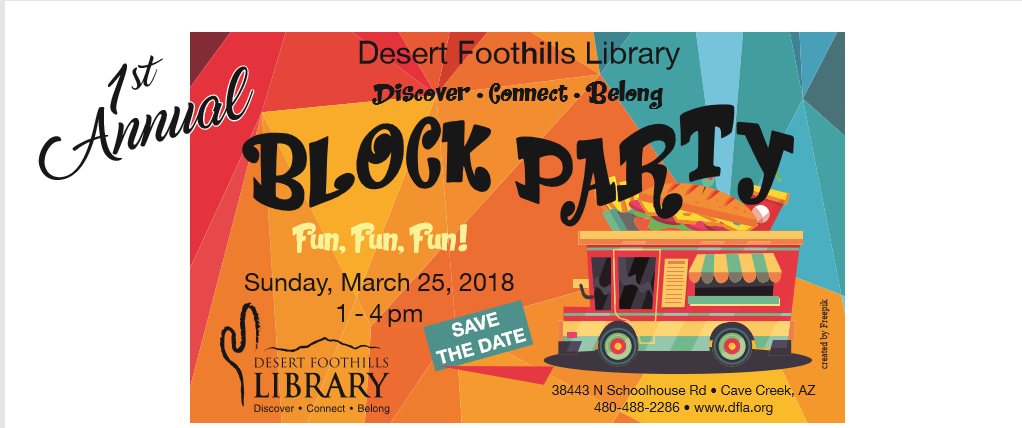 Volunteer Opportunities - Desert Foothills Library Block Party
