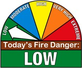low fire danger graphic